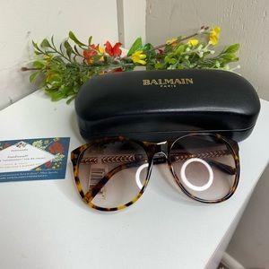 Balmain Tortuous Shell Round Sunglasses
